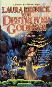 """Cover des Buches """"The Destroyer Goddess"""" von Laura Resnick"""