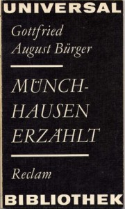 """Cover des Buches """"Münchhausen erzählt"""" von Gottfried August Bürger"""