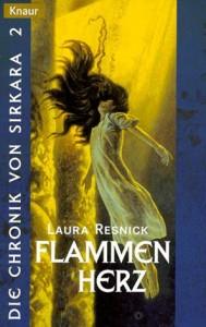 """Cover des Buches """"Flammenherz"""" von Laura Resnick"""