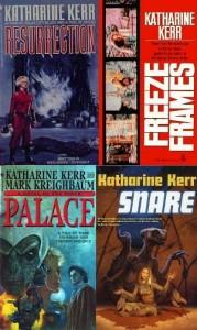 Cover diverser Einzelbände von Katherine Kerr