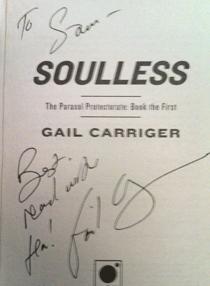 Ein persönliches Autogramm von Gail Carriger